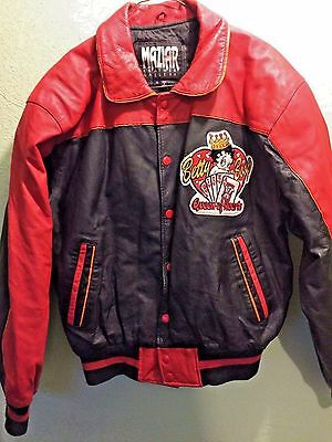 Vintage Maziar Leather Jacket Betty Boop Queen of Hearts Rare Size M