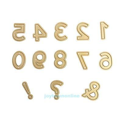 Numeral Metal Cutting Dies Stencil Scrapbooking Paper Card Embossing Craft DIY