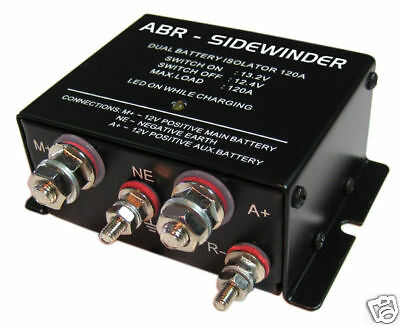 DUAL BATTERY ISOLATOR VSR ABR SIDEWINDER DBi120 2015 Stock Clearance