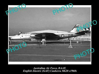 HISTORIC AVIATION PHOTO OF RAAF AUSTRALIAN AIR FORCE, GAF CANBERRA JET c1960s