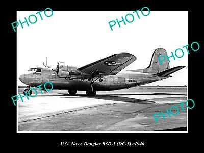 OLD HISTORIC AVIATION PHOTO USA NAVY, DOUGLAS DC-5 AIRCRAFT c1940