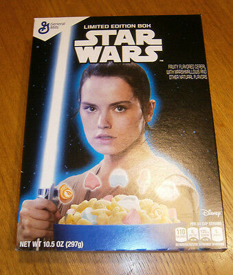 "2016 Star Wars ""the Force Awakens"" Rey Limited Edition General Mills Cereal Box"