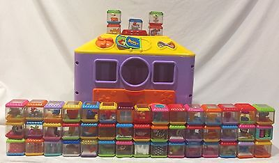 Fisher Price INCREDIBLOCK Toy Activity Center Cube Lot 50 Peek A Boo Blocks