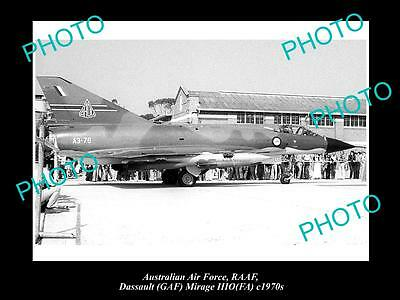HISTORIC AVIATION PHOTO OF RAAF AUSTRALIAN AIR FORCE, DASSAULT MIRAGE JET c1970s