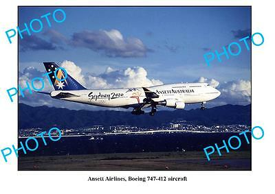 Old Large Photo, Ansett Airlines, Boeing 747, Sydney Olympics Aircraft 1