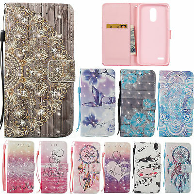 For LG Stylo 3/ Stylus 3/ LS777 Diamond Leather Pattern Wallet Case Stand Cover