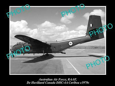 HISTORIC AVIATION PHOTO OF RAAF AUSTRALIAN AIR FORCE, DE HAVILLAND CARIBOU c1970