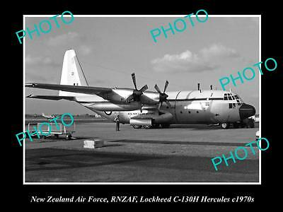 HISTORIC AVIATION PHOTO OF RNZAF NEW ZEALAND AIR FORCE, LOCKHEED HERCULES 1970s