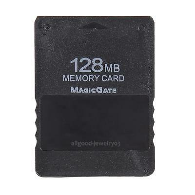 128MB Memory Card for Sony PlayStation 2 PS2 Accessories Black Brand New