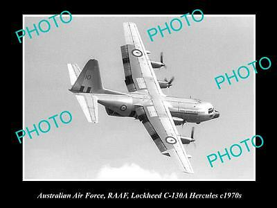 HISTORIC AVIATION PHOTO OF RAAF AUSTRALIAN AIR FORCE, LOCKHEED HERCULES c1970s