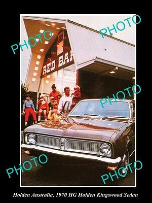 Large Historic Photo Of Gm Holden, The 1970 Hg Holden Kingswood Press Photo