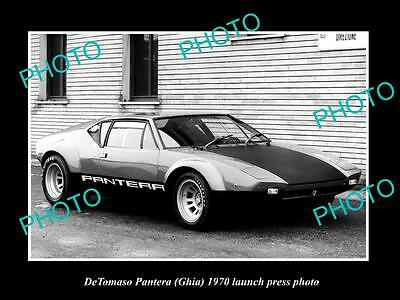 Old Large Historic Photo Of 1970 Detomaso Pantera Ghia Launch Press Photo 2