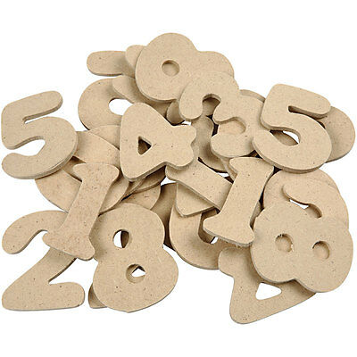 SALE - 30 Assorted Wooden Numbers for Crafts | Wood Shapes for Crafts