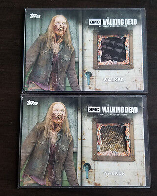2017 Topps Walking Dead Season 6 - 4x Walker Relic Costume Lot Walmart Exclusive