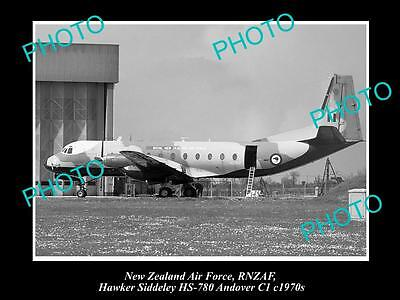HISTORIC AVIATION PHOTO OF RNZAF NEW ZEALAND AIR FORCE, HAWKER SIDDELEY 1970s