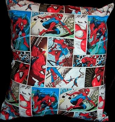 New Handmade The Amazing Spiderman Comic Travel Toddler Pillow