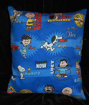 New Handmade Peanuts Snoopy Charlie Brown 60Th Then And Now Toddler  Pillow  @@