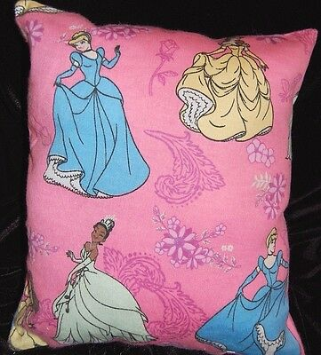 New Disney Handmade Princess Tiana Cinderella Belle Flannel  Pillow