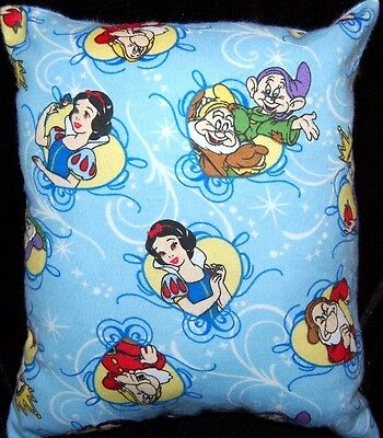 New Handmade Disney Snow White Seven Dwarfs  Travel / Toddler   Pillow
