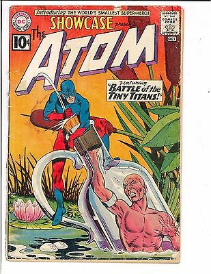 Showcase #34 1st Silver Age Appearance of Atom Ray Palmer DC Comics 1961 KEY