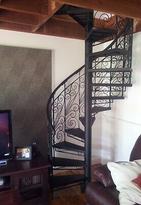 Wrought Iron Ornate  Spiral Staircase 1300 diameter BRAND NEW