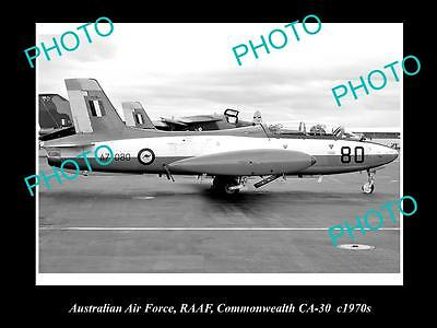 HISTORIC AVIATION PHOTO OF RAAF AUSTRALIAN AIR FORCE, CA-30 SABRE JET c1970s