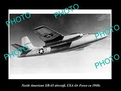 OLD HISTORIC AVIATION PHOTO, NORTH AMERICAN XB-45 AIRCRAFT, USA AIR FORCE c1940