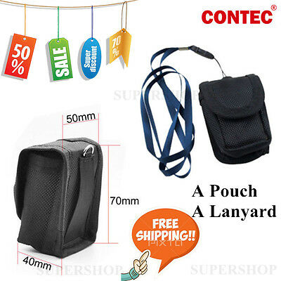 promotion Fingertip spo2 Pulse Oximeter Black Carrying Case+hanging rope