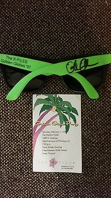 X-Files Crew Gift - 1997 Golden Globes Sunglasses signed by Gillian Anderson