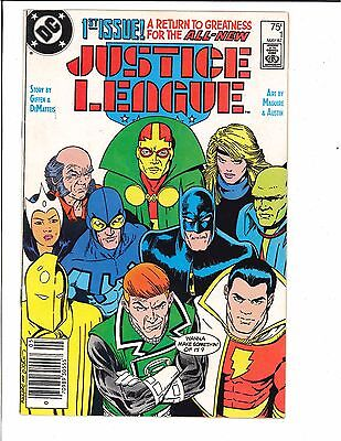 Justice League #1 1st Appearance of Maxwell Lord Black King 1987 DC