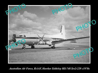Historic Aviation Photo Of Raaf Australian Air Force, Hawker Siddeley Plane 1970