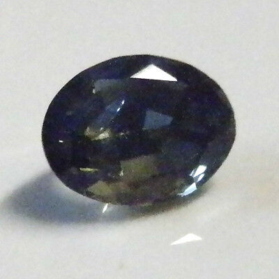 Natural Australian earthmined blue green yellow oval sapphire ..0.64  carat