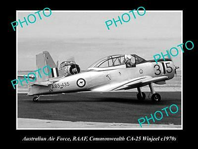 HISTORIC AVIATION PHOTO OF RAAF AUSTRALIAN AIR FORCE, CA-25 WINJEEL PLANE c1970s