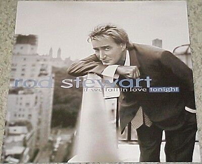Rare Vintage 1996 ROD STEWART If We Fall In Love Tonight Promo Album Poster Flat