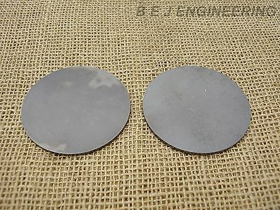 "Mild Steel Disc Circle 75mm(3"") dia x 2mm(5/64"") Pk of 2 - Laser Cut"