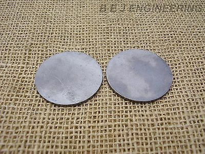 "Mild Steel Disc Circle 50mm(2"") dia x 2mm(5/64"") Pk of 2 - Laser Cut"