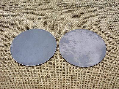"Mild Steel Disc Circle 100mm(4"") dia x 2mm(5/64"") Pk of 2 - Laser Cut"