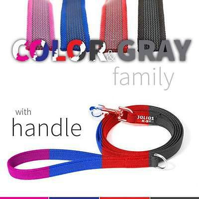 Julius-K9 Color & Gray Dog Puppy Leash with Handle Training Walking Strong Lead