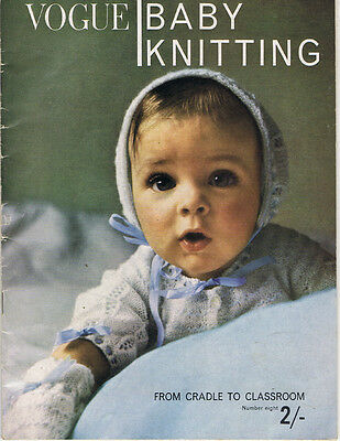 vintage Knitting Pattern Book VOGUE Baby Knitting from cradle to classroom No 8