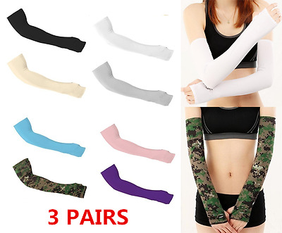 1-3 Pairs Cooling Arm Sleeves Sun UV Protection Covers Golf Cycling Bike Sport