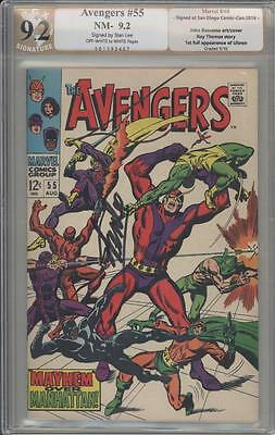 AVENGERS 55 - PGX 9.2 Signature Edition - Signed By Stan Lee - Marvel Comics