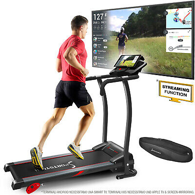 Sportstech F15 Tapis Roulant con Fitness App Motore 3HP DC 12 KM/H pieghevole