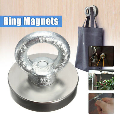 Strong Round Rare Earth Salvage Permanent Neodymium Magnet Eyebolt Ring 50X50mm
