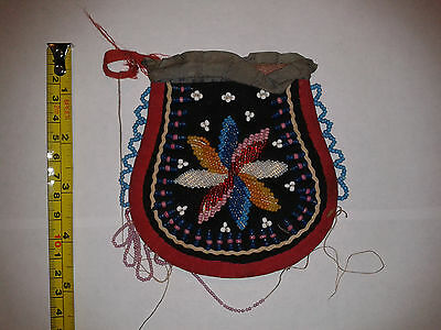 Late 19Th C. American Indian Iroquois? Beaded Bag.