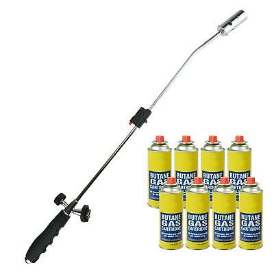 Weed Burner Killer Wand Butane Gas Canister Blowtorch Garden Outdoor Moss Fungus
