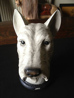 Resin Scottie-Dog Head