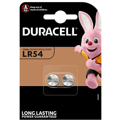 Genuine Duracell LR54 AG10 LR1130 189 Alkaline Battery 1.5v [2-pack]