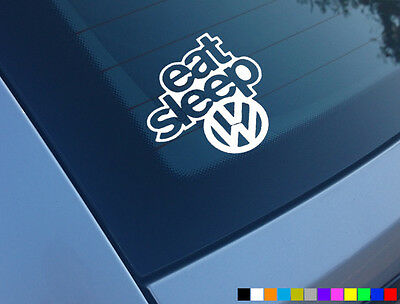 Eat Sleep Vw Funny Car Sticker Decal Bumper Window Van Dub Vinyl Novelty Laptop