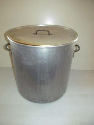 Huge 80 Qt Wear-Ever 4320 Aluminum Stock Pot Rolled Edge & LID 598