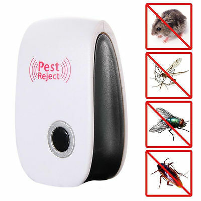 Ultrasonic Pest Reject Electronic Magnetic Repeller  Mosquito Insect Killer New